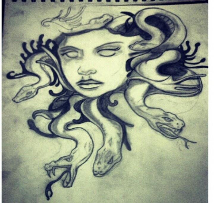 Medusa drawing tattoo idea tattoo art pinterest