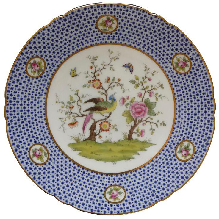 Copeland cabinet plate, 1912  コープランド 東洋風絵柄のプレート 1912年