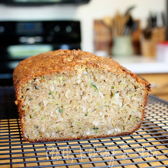 Zucchini Coconut Bread- I used all normal flour and sour cream instead ...