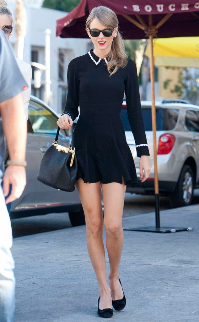 Taylor Swift looks super cute stepping out for lunch in Los Angeles. #style
