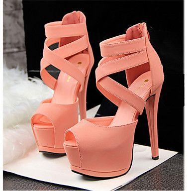 Chaussures Femme - Décontracté - Multi-couleur - Talon Aiguille - Talons - Sandales - Similicuir de 3730612 2016 à €34.29