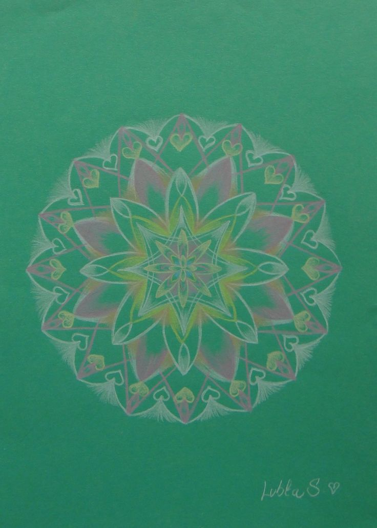 Green Mandala II.  www.souldrops.co.uk