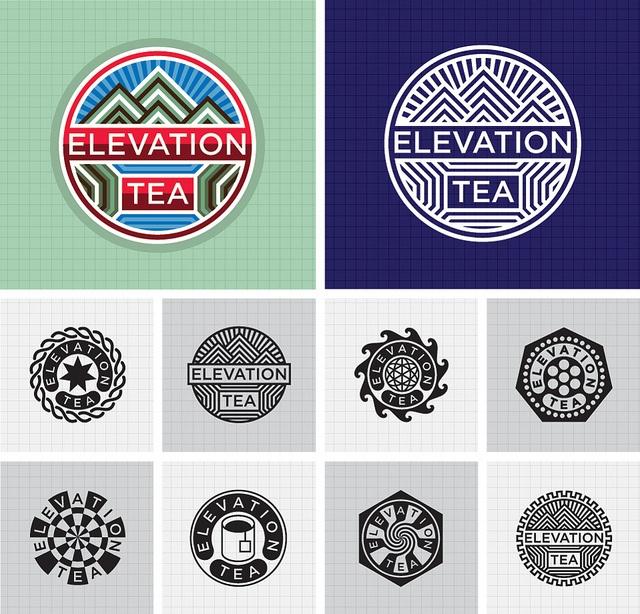 Logo Design : Elevation Tea., via Flickr.