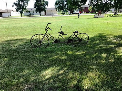 This cool looking old bike was spotted along the Lake Wobegon Trail near Freeport. Makes you want to jump on the trail for a ride!