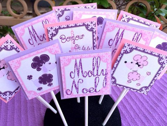 Poodles and Paris Birthday Decorations Pack by PrettyLilPartiesLV, $70.00