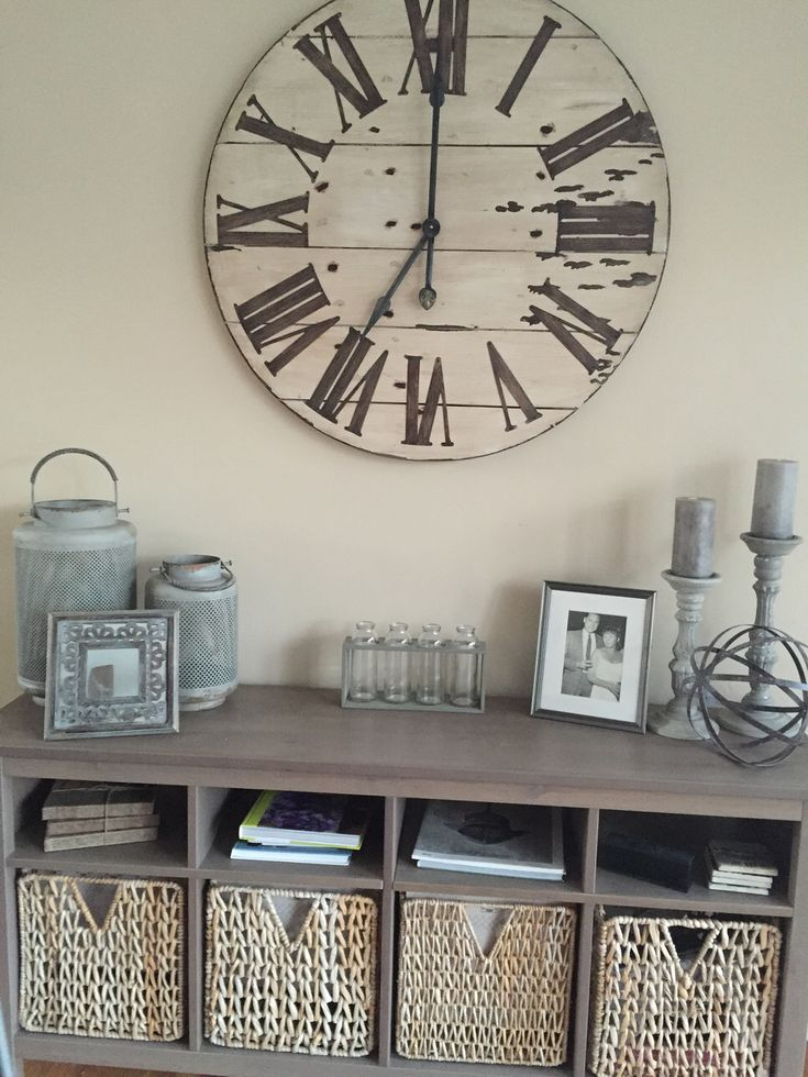 Best 25 wall clock decor ideas on pinterest large clock - Wall picture clock decoration ...