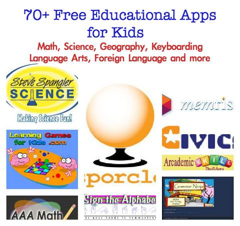 best free educational apps for kids, free math & science websites too!