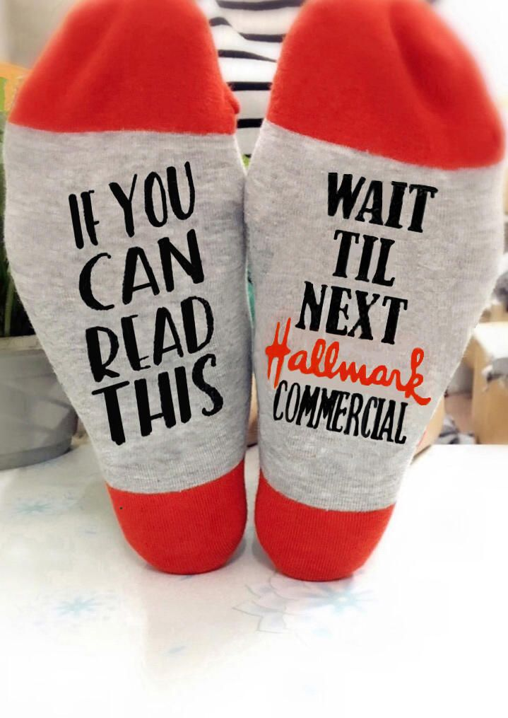 Hallmark Christmas Commercial 2020 Wait Til Next Hallmark Commercial Socks in 2020 | Wine socks