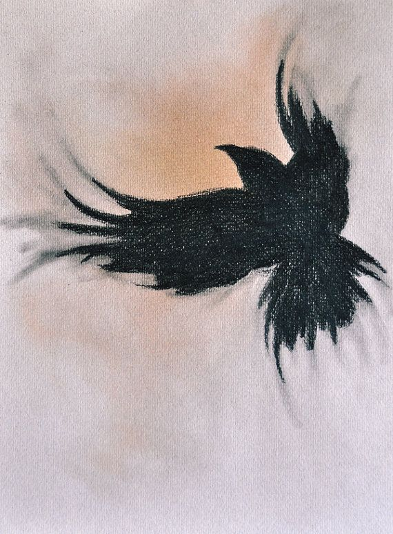 """Love the Movement in this, Beautiful!! """"Raven Flying"""" by Natureandart"""