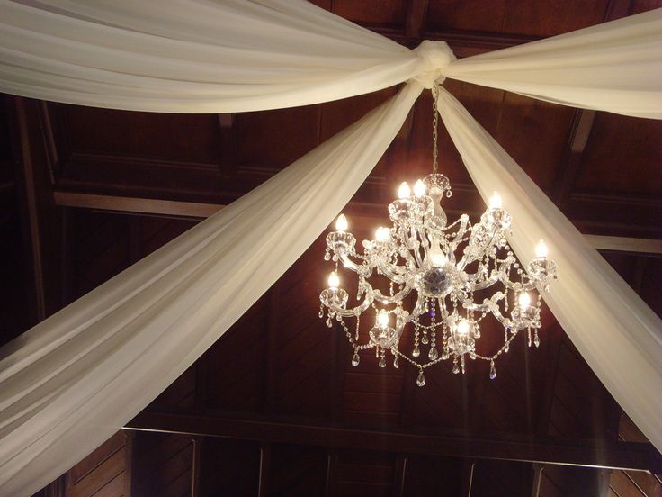 Decorating the ceiling with fabric | Wedding Decorator Blog - Good tips on how to decorate a ceiling for an event.