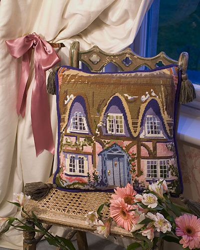 The Purple Tree Thatched Cottage Tapestry Kit