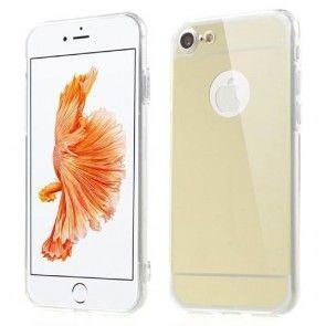 Husa iPhone 7 , Gold, Silicon, Protectie Spate si Laterale, Slim