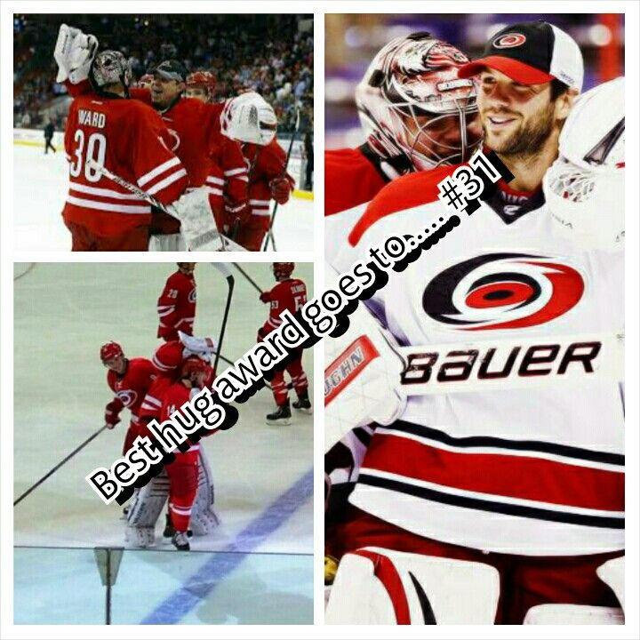 Anton khudobin deserves best hug award @Carolina Hurricanes