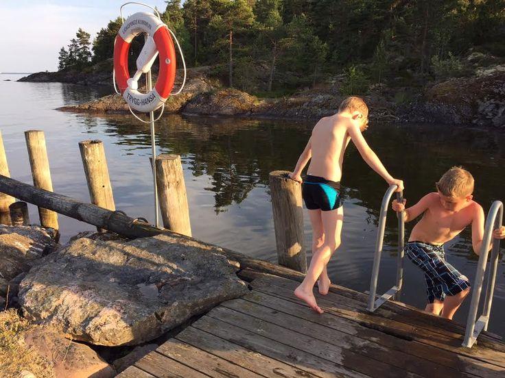 Evening swim in Lake Vänern.