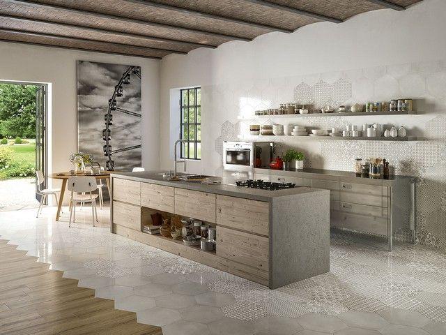 374 best gres porcellanato images on pinterest - Maioliche cucina moderna ...