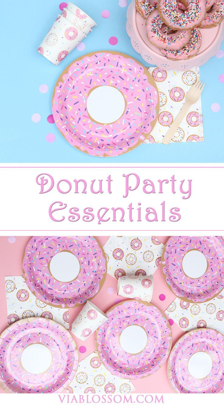All your Donut Party Supplies and decorations for the sweetest party! available at http://viablossom.com