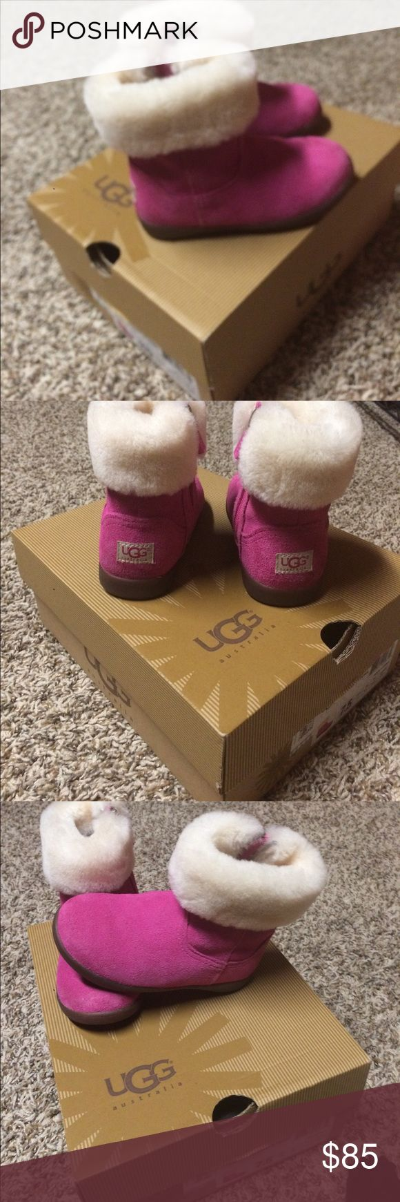 Kids ping ugg low boots Omg how can I start to describe these little adorable absolutely the cutest things pink low boot uggs worn once for an hr n put back awY would look great with jeans skirt or even sweat pants so so darn cute 😫😘😘😍🙂 UGG Shoes Boots