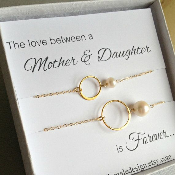 Mother Daughter Bracelet Set Gold Eternity by anatoliantaledesign, $46.00