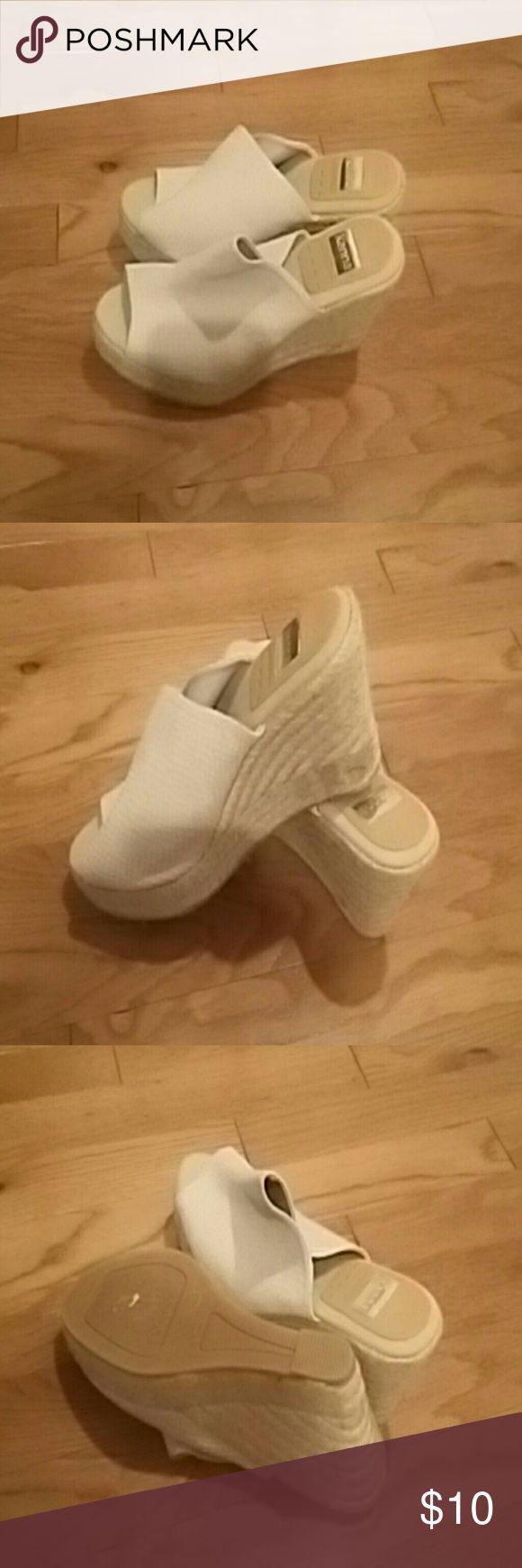 Beige wedge shoes Great condition beige wedge heels Shoes Wedges
