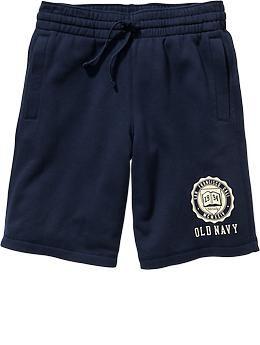 "Mens Jersey-Fleece Logo Shorts (11"")"