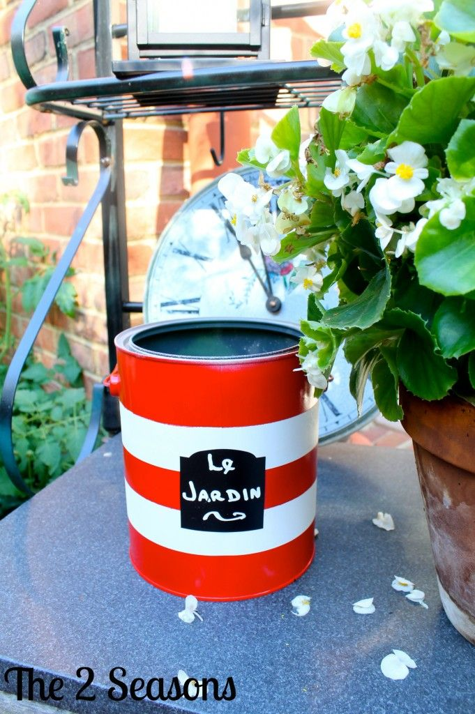 With A Little Paint And Creativity, This Paint Can Now Holds An Expandable Garden  Hose