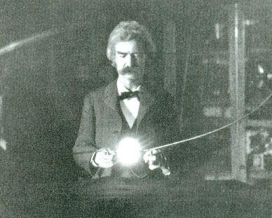Mark Twain's writings on religion (in this photo he is hanging out in Tesla's lab, btw)
