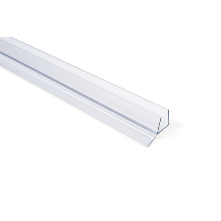 Frameless Shower Door Seal with Wipe for 1/2 inch Glass in Clear, 36 inch Length