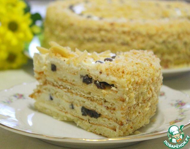 Торт с черносливом и творожными коржами ингредиенты