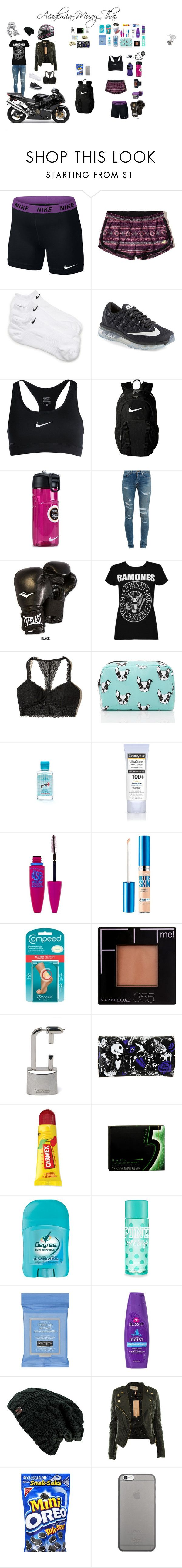 """Academia-Muay thai"" by biih-fferreira on Polyvore featuring moda, NIKE, Hollister Co., Yves Saint Laurent, Everlast, Boohoo, Forever 21, Colgate, Neutrogena e Maybelline"