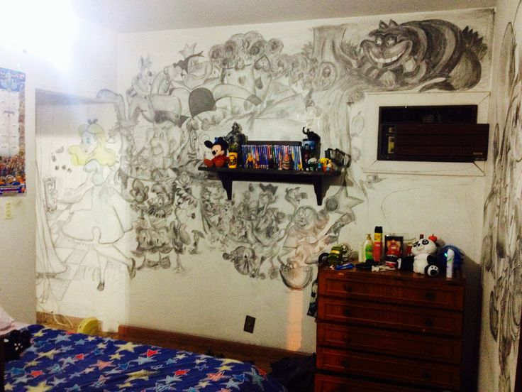 Disney alice in wonderland bedroom