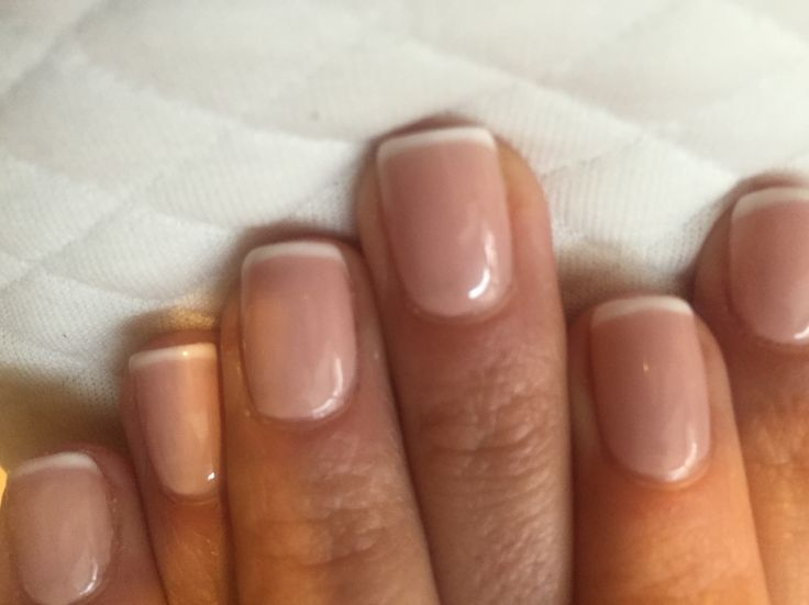 Thin french no chip manicure
