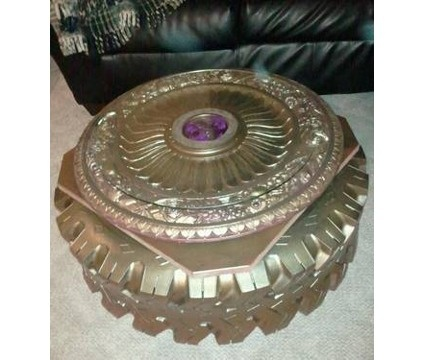 Man cave tire coffee table