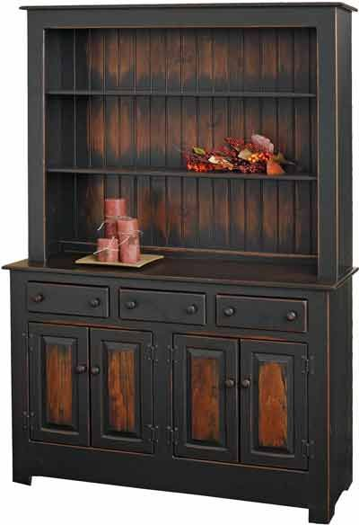 China Cabinet in Farmhouse Cherry finish