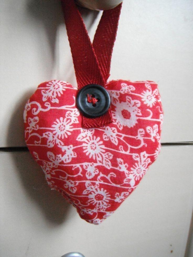 Stuffed Valentine's Heart Door Hanger