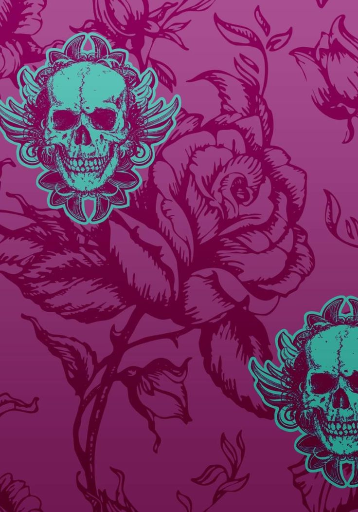 skull and roses wallpapers - photo #36