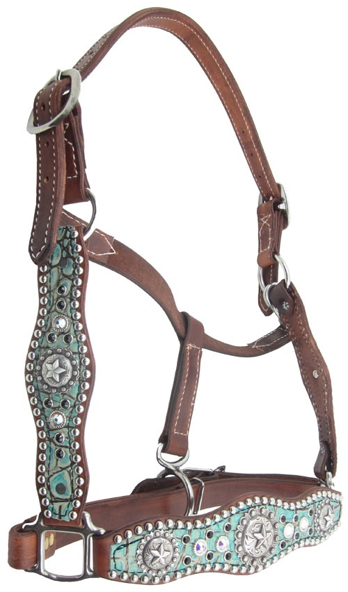 Heritage Brand Scalloped leather halter