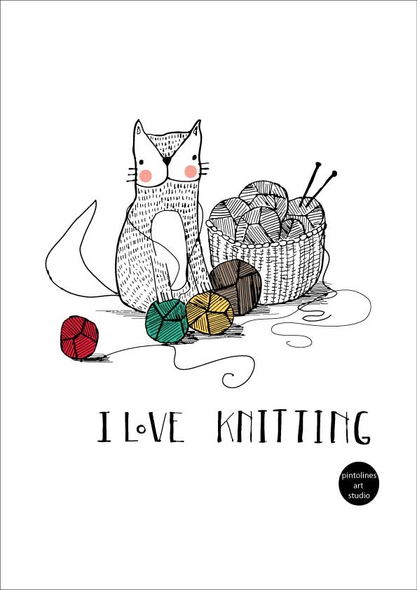 Rocio Vigne illustration dedicated to knitting lovers. #knitting #illustration