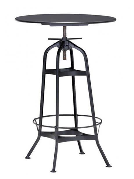 Industrial Metal Spin Bar Table | Modern Furniture • Brickell Collection