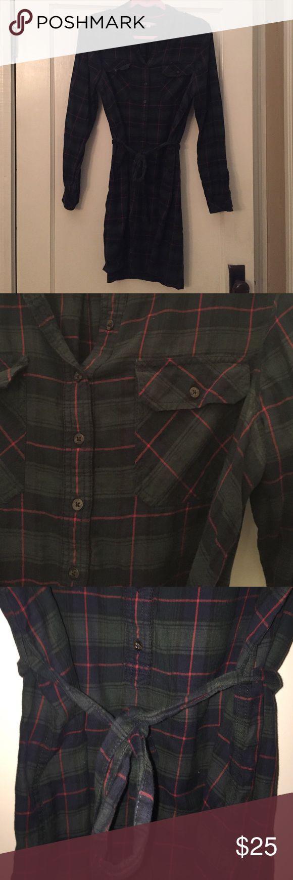 Gap flannel shirt dress Gap plaid flannel shirt dress GAP Dresses