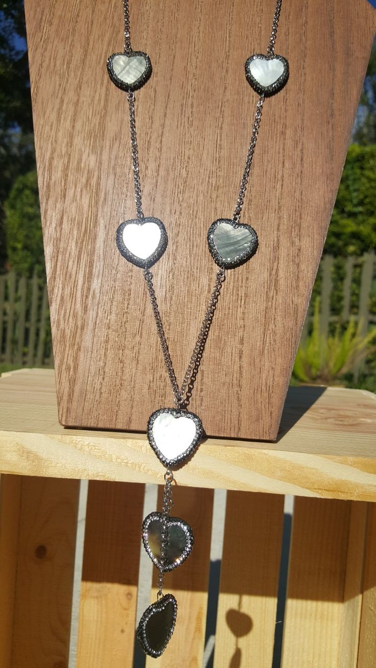 Heart necklace designs by Katherine Kelly Jewelry