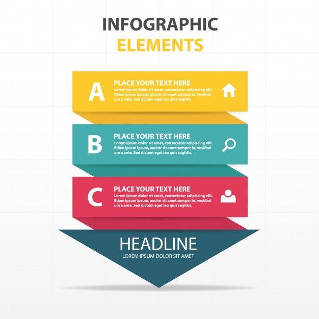 modelo colorido triângulo abstrato infográfico negócios Vetor grátis
