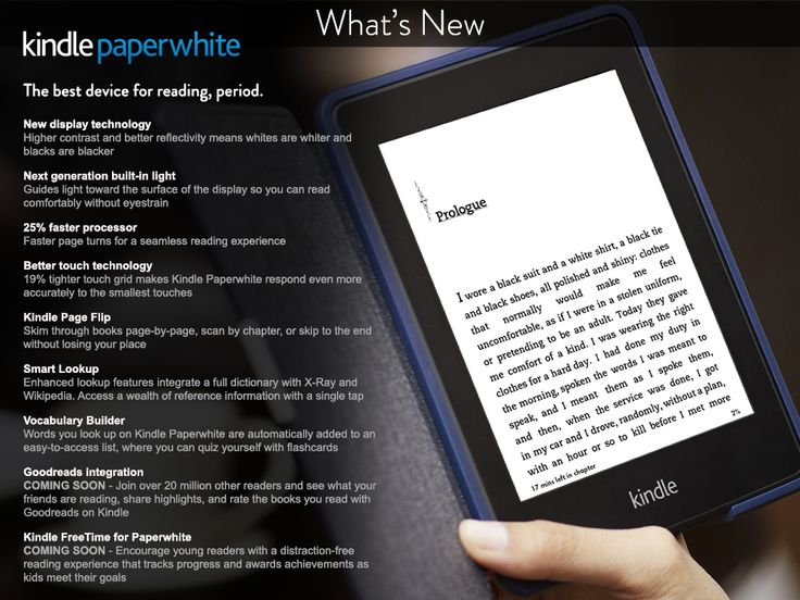 All-new Kindle Paperwhite - what's new