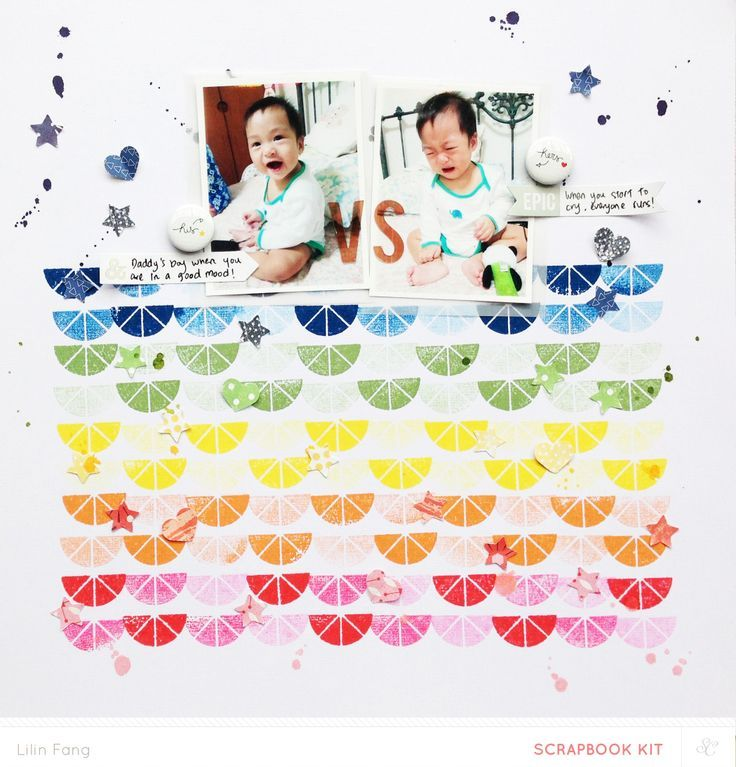 #papercraft #scrapbook #layout  His vs Hers layout by Lilinfang at @Studio_Calico