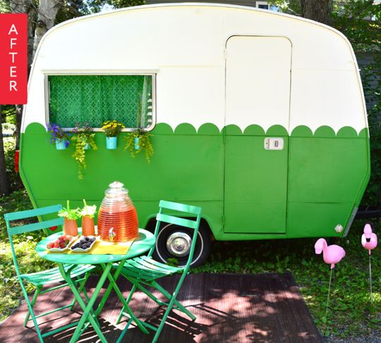 Before & After: Vintage Caravan Gets a Colorful Facelift | Apartment Therapy