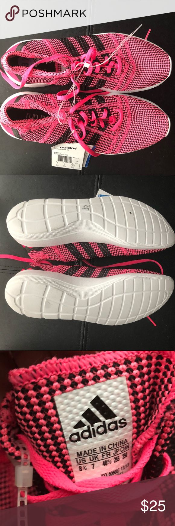 Adidas rum natural Hot pink and black adidas running shoe  Never worn, brand new with tags adidas Shoes