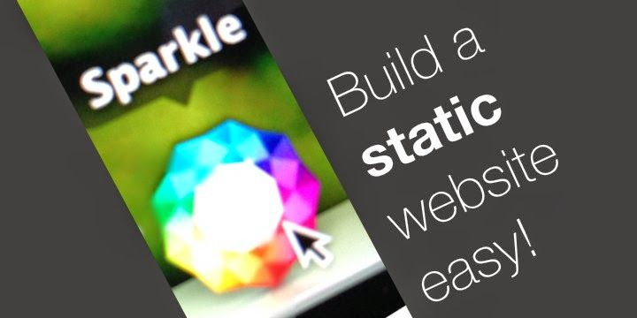A small review on Sparkle, an application for the Mac to help you build complete, responsive and beautiful static html websites easily.