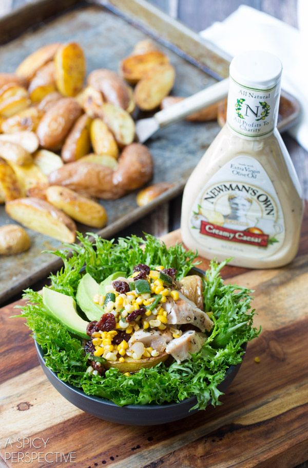 Southwest Chicken Caesar Salad Recipe + an amazing opportunity to raise money for your favorite charity via Newman's Own: https://www.facebook.com/newmansown