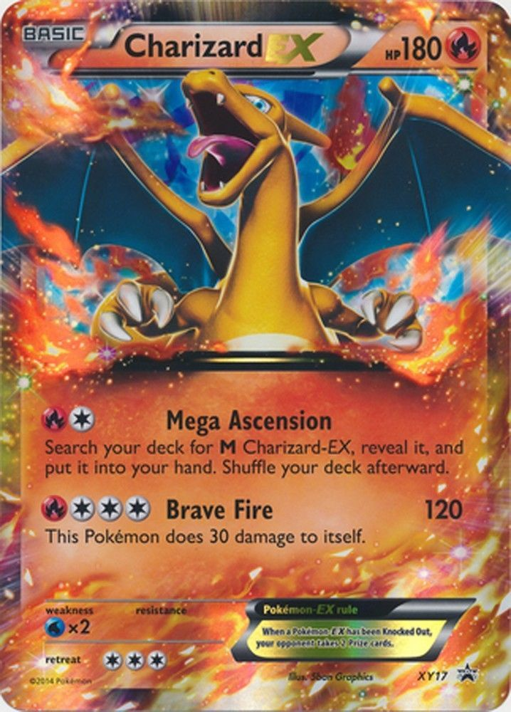 Pokemon charizard x card