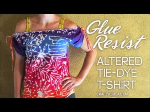 Tie-Dye Technique: Glue Resist || Altered t-shirt
