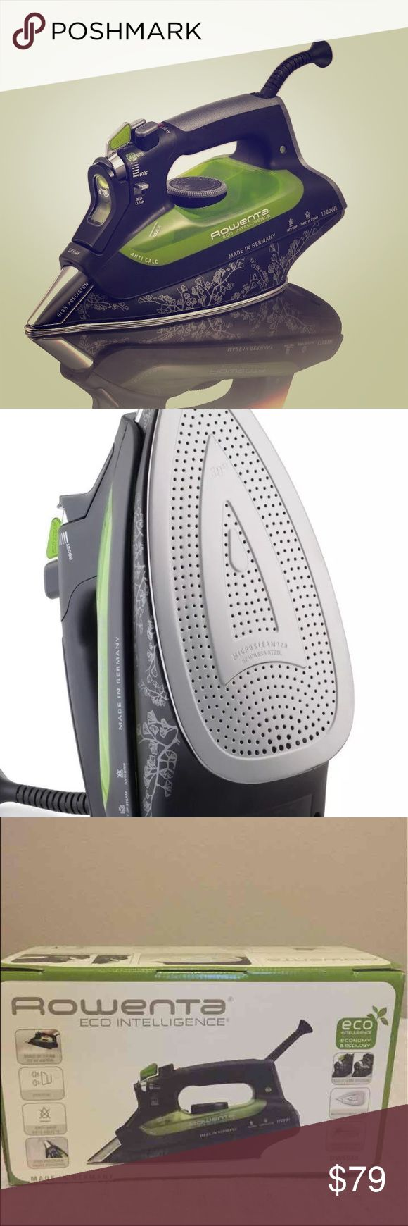Cleaning rowenta pressure iron and steamer - Rowenta Eco Intelligence Iron Steamer Rowenta Ego Intelligence Iron Also Steamer Brand New